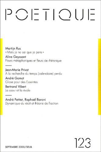 Seuil - Poétique N° 123 : .