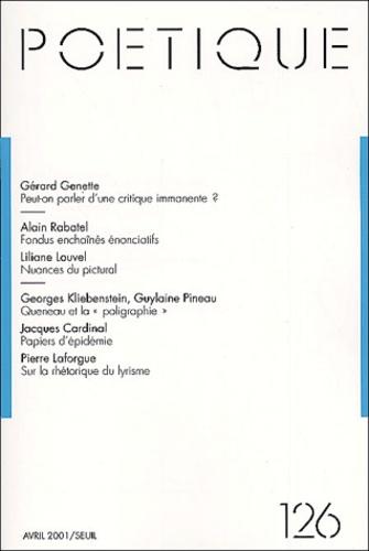 Seuil - Poétique N° 126 : .