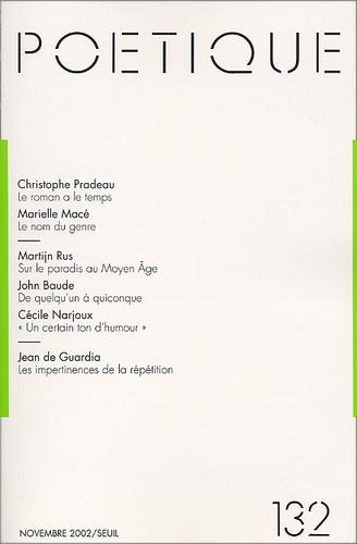 Seuil - Poétique N° 132 / 2002-11 : .