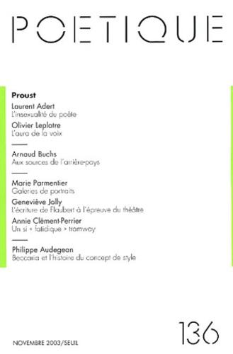 Seuil - Poétique N° 136 : Proust.