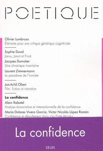 Seuil et Sophie Duval - Poétique N° 141, Février 2005 : La confidence.