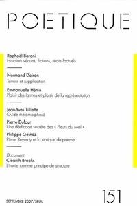 Seuil et Normand Doiron - Poétique N° 151, Septembre 20 : .