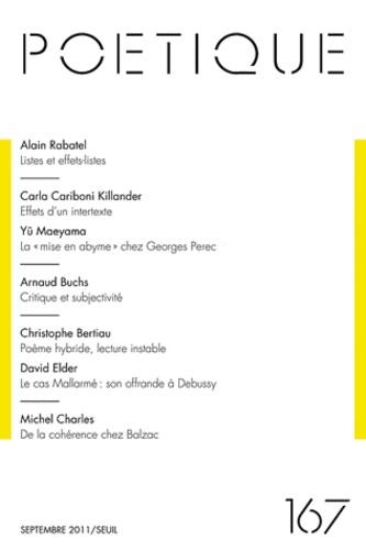 Alain Rabatel et Yû Maeyama - Poétique N° 167, Septembre 20 : .
