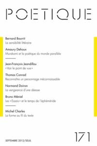Bernard Bourrit et Amaury Dehoux - Poétique N° 171, septembre 20 : .