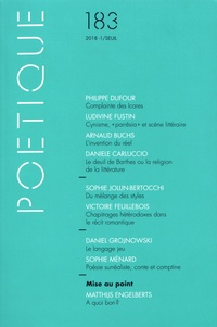 Michel Charles - Poétique N° 183/2018-1 : .