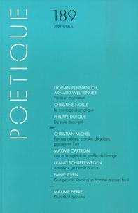 Florian Pennanech et Arnaud Welfringer - Poétique N° 189/2021-1 : .