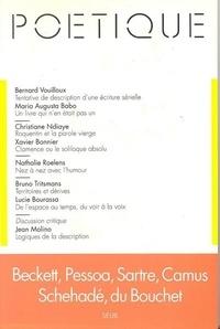 Seuil - Poétique N° 91 : Beckett, Pessoa, Sartre, Camus, Schehadé, du Bouchet.