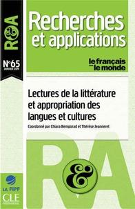 Chiara Bemporad et Thérèse Jeanneret - Recherches et applications N° 65, janvier 2019 : Lectures de la littérature et appropriation des langues et cultures.