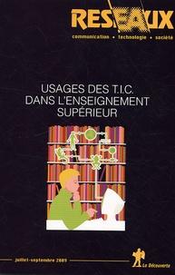 Adel Ben Youssef et Alain Rallet - Réseaux N° 155, Juillet-sept : Usages des TIC dans l'enseignement supérieur.