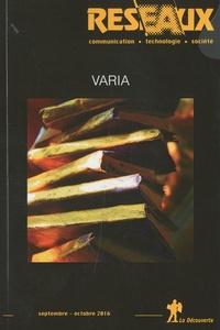 Patrice Flichy - Réseaux N° 199, septembre-oc : Varia.