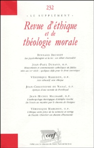 Bernard Brusset et Jean-Paul Durand - Revue d'éthique et de théologie morale N° 232 Décembre 2004 : .