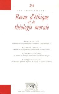 François Nault et Raymond Lamboley - Revue d'éthique et de théologie morale N° 234, Juin 2005 : .