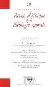 Joseph Wresinski et Maxime Allard - Revue d'éthique et de théologie morale N° 235 : .