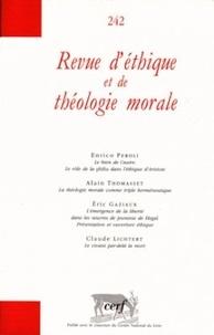Enrico Peroli et Alain Thomasset - Revue d'éthique et de théologie morale N° 242, Décembre 200 : .