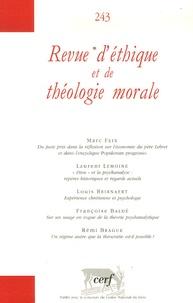 Marc Feix et Laurent Lemoine - Revue d'éthique et de théologie morale N° 243, Mars 2007 : .