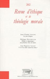 Jean-Claude Lavigne et Philippe Dockwiller - Revue d'éthique et de théologie morale N° 262, Décembre 201 : .