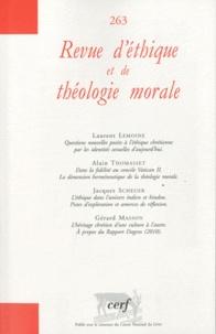 Eric de Clermont-Tonnerre - Revue d'éthique et de théologie morale N° 263 : .