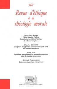 Jean-Marc Ferry et Nicolas Lebourg - Revue d'éthique et de théologie morale N° 267 : .