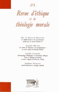 Eric de Moulins-Beaufort et Stanislas Breton - Revue d'éthique et de théologie morale N° 272, Décembre 201 : .