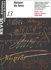 Bibliothèque Nationale France - Revue de la Bibliothèque nationale de France N° 13/2003 : Autour du faux.