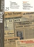 Philippe Mezzasalma et Elise Dutray - Revue de la Bibliothèque nationale de France N° 25/2007 : La presse du XXe siècle.
