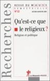 Hannah Arendt et Jules Monnerot - Revue du MAUSS N° 22 second semestr : Qu'est-ce que le religieux ? - Religion et politique.