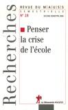 Thomté Ryam et Alain Caillé - Revue du MAUSS N° 28, second semest : Penser la crise de l'école - Perspectives anti-utilitaristes.