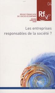 Nicolas Postel - Revue française de socio-économie N° 4, second semestr : Les entreprises responsables de la société ?.