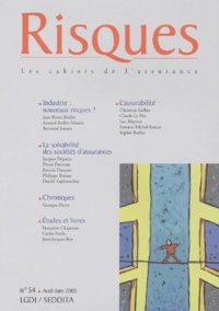 Jean-Pierre Rodier et Arnaud Barbet-Massin - Risques N° 54 Avril-Juin 200 : .