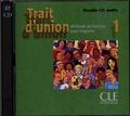 CLE international - Trait d'union 1 - Méthode de français pour migrants. 2 CD audio