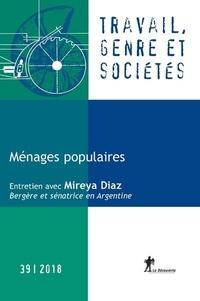 La Découverte - Travail, genre et sociétés N° 39, avril 2018 : Ménages populaires.