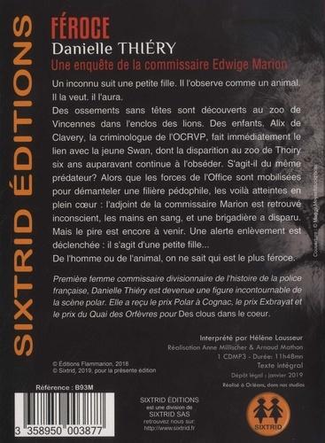 Une enquête de la commissaire Edwige Marion  Féroce -  avec 1 CD audio MP3