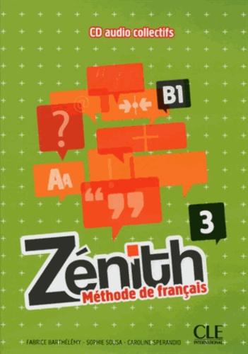 Fabrice Barthélemy et Sophie Sousa - Zénith 3 B1. 1 CD audio