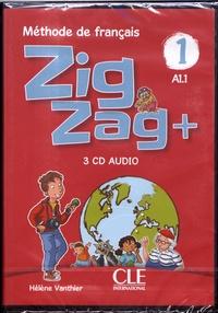 Hélène Vanthier - Zigzag+ 1 A1.1 - Méthode de français. 3 CD audio