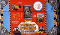 InTexte - Mon super kit d'engins de chantier - Coffret avec 8 panneaux de signalisation, 2 barrières, 1 pelleteuse mécanique, 2 cônes de signalisation et 1 pompe à essence.