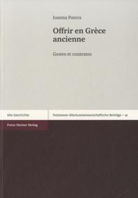 Deedr.fr Offrir en Grèce ancienne - Gestes et contextes Image