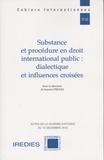Ioannis Prezas - Substance et procédure en droit international public : dialectique et influences croisées - Actes de la journée d'études du 12 décembre 2016.