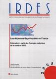 Thomas Renaud - IRDES 1706 : Les dépenses de prévention en France - Estimation à partir des comptes nationaux de la santé en 2002.