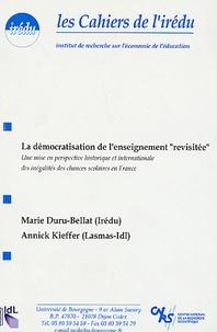 """Marie Duru-Bellat et Annick Kieffer - Cahiers de l'Irédu N° 60, Mai 1999 : La démocratie de l'enseignement """"revisitée"""" : une mise en perspective historique et internationale des inégalités des chances scolaires en France."""
