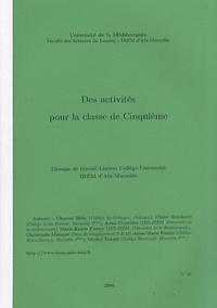 IREM d'Aix-Marseille - Des activités pour la classe de Cinquième.