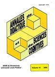 Alain Kuzniak et François Pluvinage - Annales de didactique et de sciences cognitives N° 10/2005 : .