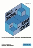 Alain Kuzniak et François Pluvinage - Annales de didactique et de sciences cognitives N° 17/2012 : .