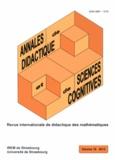 Alain Kuzniak et François Pluvinage - Annales de didactique et de sciences cognitives N° 18/2013 : .