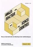 Alain Kuzniak et François Pluvinage - Annales de didactique et de sciences cognitives N° 19/2014 : .