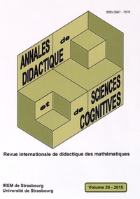 François Pluvinage et Eric Roditi - Annales de didactique et de sciences cognitives N° 20/2015 : .