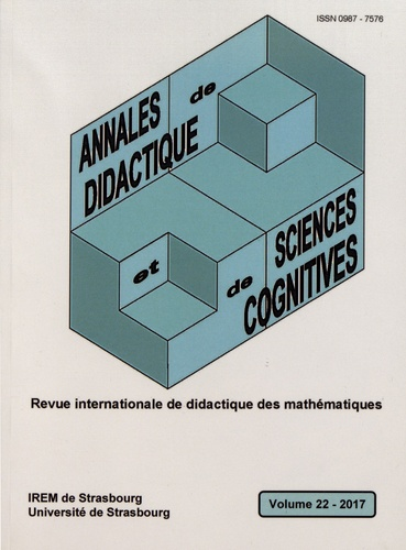 Annales de didactique et de sciences cognitives N° 22/2017