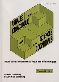 François Pluvinage et Philippe-R Richard - Annales de didactique et de sciences cognitives N° 24/2019 : .