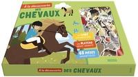 Iréna Aubert et Jessica Sécheret - A la découverte des chevaux - Avec 65 pièces magnétiques, 1 plateau aimanté, 1 livret.
