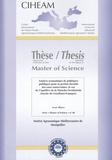 Irene Blanco - Master of sciences N°6 : Analyse économique de politiques publiques pour la gestion durable des eaux souterraines : le cas de l'aquifère de la Mancha occidentale (bassin du Guadiana-Espagne) - Thèse.