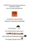 Iriv - Valoriser les acquis d'une expérience bénévole (VAEB) pour un projet professionnel - Un projet pilote européen (2003-2006) Programme Leonardo da Vinci (2000-2006).